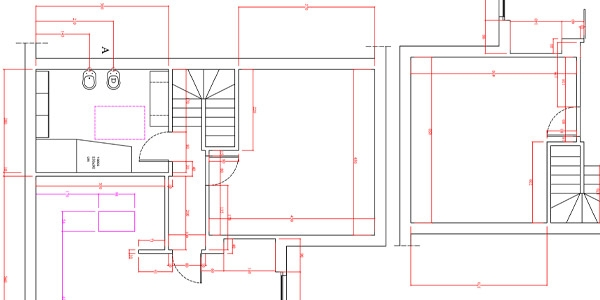 Pianta perimetrale in autocad barcella for Progetto casa autocad